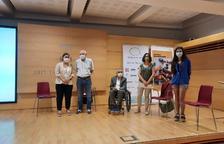 Els impulsors de l''Observatori de la discapacitat a Lleida', ahir a la Diputació de Lleida.