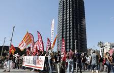 Los trabajadores se concentraron ayer en Barcelona.