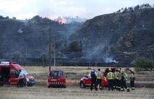 L'incendi originat a Alfarràs ha cremat 82 hectàrees agrícoles i forestals de Catalunya i l'Aragó