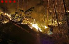 Controlen l'incendi d'Alfarràs, que ha calcinat vuitanta-set hectàrees