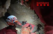 Rescatado tras quedar atrapado en una cueva en la Cerdanya