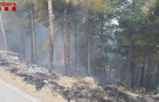 Los Bomberos atienden 43 servicios por caída de árboles por la tormenta a los Pirineos y trabajan en un fuego de rayo en Navès