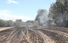 Es cremen vuit hectàrees al Solsonès a la zona devastada pel macrofoc del 98