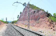 Medio millón para evitar la caída de rocas sobre las vías en Vinaixa