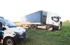 Estado en el que quedó el camión tras el siniestro.
