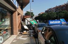 Espectacular accidente en Pardinyes