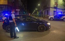 Control de Polícia local y Mossos en Tàrrega, en el tramo urbano de la C-14 a su paso por el Pati.