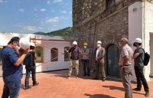 Visita d'obres a l'arxiu de l'Alta Ribagorça, que estarà llest el 2022