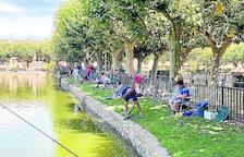 Concurs de pesca al Terrall de les Borges Blanques amb 34 inscrits