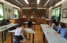 Fotografía del pleno de ayer del ayuntamiento de Vielha.