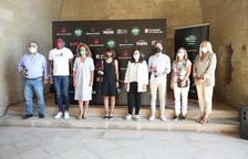Presentación ayer en el claustro de la Seu Vella de la primera edición del Lleida Music Festival.