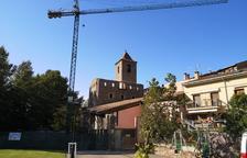 Retiren la teulada del Palau Abacial del Pont per construir el futur arxiu