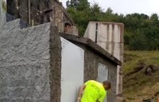 Imagen de los trabajos en el depósito de agua de Vilac.