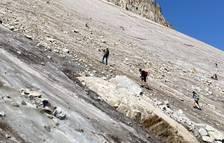 Es demana prudència als excurcionistes de l'Aneto després de rescatar una quinzena de persones atrapades a la glacera el cap de setmana