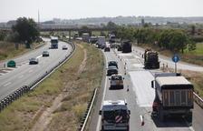 Tornen les obres i les cues a l'autovia A-2 al seu pas pel Pla d'Urgell