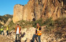 Una nova allau de roques obliga a parar obres a la carretera de Camarasa
