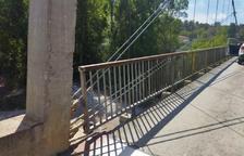 Reobren el pont que uneix Oliana i Peramola a l'haver reparat la barana