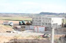 La planta de selecció que es construeix a Montoliu de Lleida.