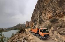 La carretera de Camarasa s'obrirà dilluns parcialment