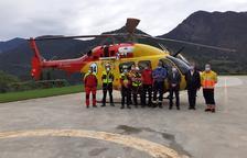 Los GRAE han efectuado 260 rescates este verano desde la base de Tírvia