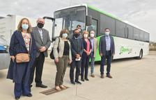 La presentació del bus exprés a les Borges Blanques.