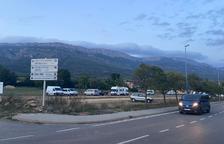 La zona de autocaravanas en la entrada de Àger.