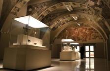 La sala del MNAC donde se exhiben las pinturas murales del Monasterio de Sigena.