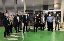La consellera Jordà ha visitat l'empresa Baró i Fills d'Albatàrrec.
