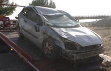 Mor un conductor en una sortida de via a l'autovia a Alpicat