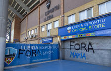 El búnquer del Lleida Esportiu s'esquerda