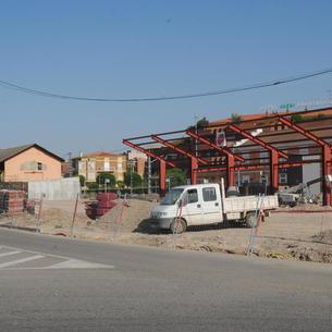 Obras en la nueva estación de autobuses.