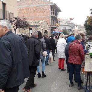 Público por la mañana en l Fira de la Perdiu.
