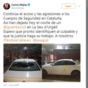 Carina Mejías relaciona l'atac amb la seu d'Urgell falsament
