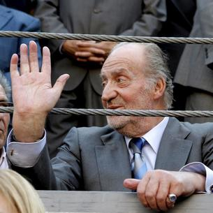 Juan Carlos I, en una corrida de toros en Madrid en 2011.