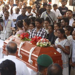 Un dels funerals de les víctimes dels atemptats.
