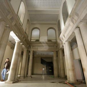 Inici de les obres del nou Museu Morera de Lleida, a l'antiga Audiència de Lleida