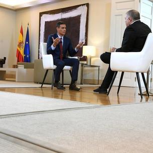 El president el Govern espanyol en funcions, Pedro Sánchez, durant una entrevista amb Antonio Ferreras, de La Sexta.