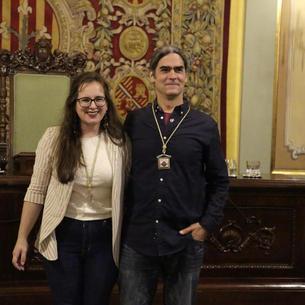 Los ediles del Comú, Elena Ferre y Sergi Talamonte.