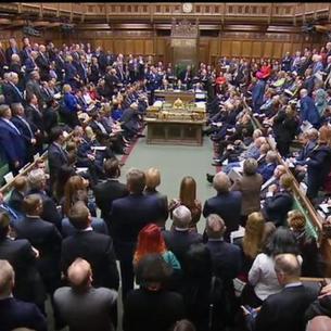 Els diputats britànics durant una de les votacions realitzades ahir al Parlament.