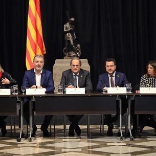 El president Torra també va encapçalar ahir una reunió per abordar la cancel·lació del MWC.
