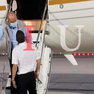 El rey emérito Juan Carlos I a su llegada a Abu Dhabi el lunes, en una imagen publicada ayer por Nius.