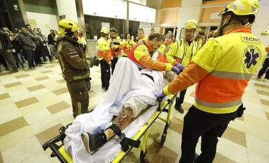 Simulacre d'accident a l'estació de Lleida