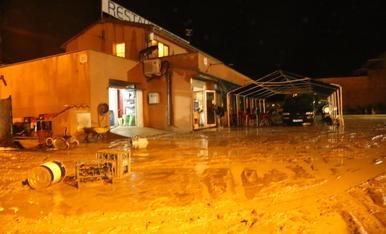 Un restaurant de les Oluges, que va tancar al quedar negat.
