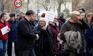 Manifestació a la Bordeta contra els okupes