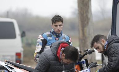 Entrenament de Marc Màrquez a Rufea