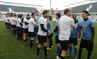 Partido inclusivo en el Camp d'Esports