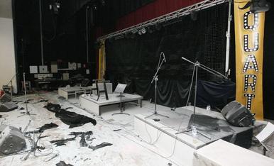 Incendi al pavelló de Les Borges Blanques