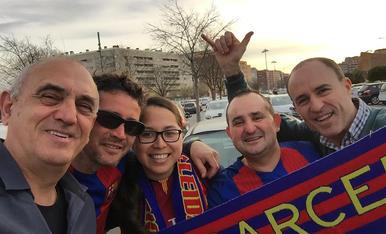 Celebració a Lleida de la remuntada històrica del Barça