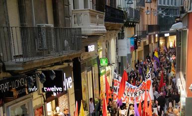 Manifestació i retirada de plaques franquistes