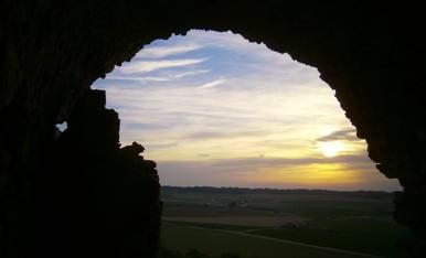 atardecer desde el castillo de Gimenells